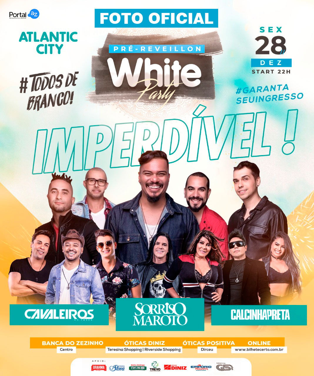 Portal AZ sorteia ingressos para o pré reveillon White Party
